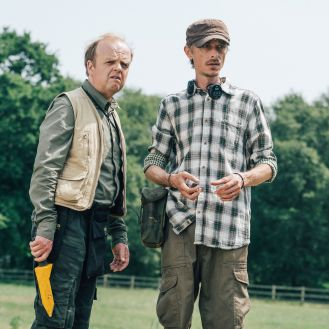 Programme Name: Detectorists series 3 - TX: n/a - Episode: n/a (No. 3) - Picture Shows: Lance (TOBY JONES), Andy (MACKENZIE CROOK) - (C) Channel X - Photographer: Chris Harris
